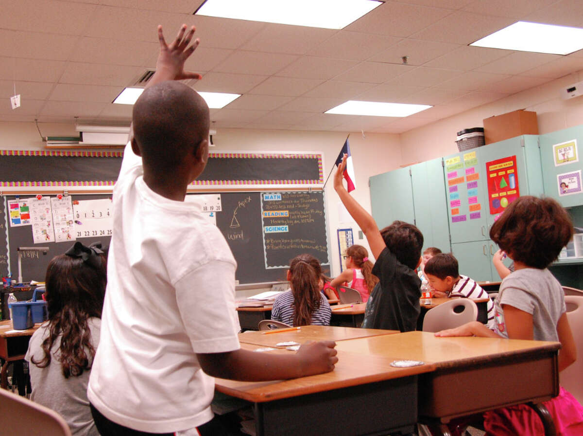 Suburban elementary school classrooms, like this one at Katy ISD's Memorial Parkway Elementary School, are a little less crowded this year, with districts submitting fewer waivers to the state exempting them from mandated student teacher ratio requirements this year.