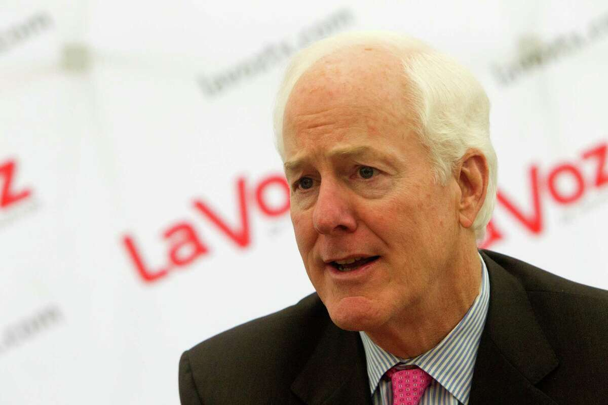Senator John Cornyn speaks during an interview at the Houston Chronicle, Wednesday, Oct. 1, 2014, in Houston. (Cody Duty / Houston Chronicle)