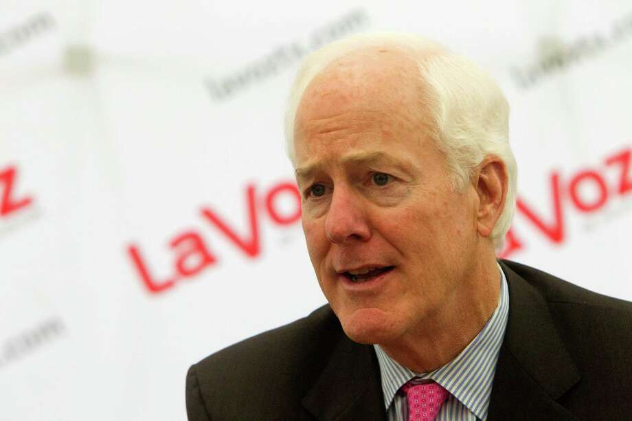 Senator John Cornyn speaks during an interview at the Houston Chronicle, Wednesday, Oct. 1, 2014, in Houston. (Cody Duty / Houston Chronicle) Photo: Cody Duty, Staff / © 2014 Houston Chronicle