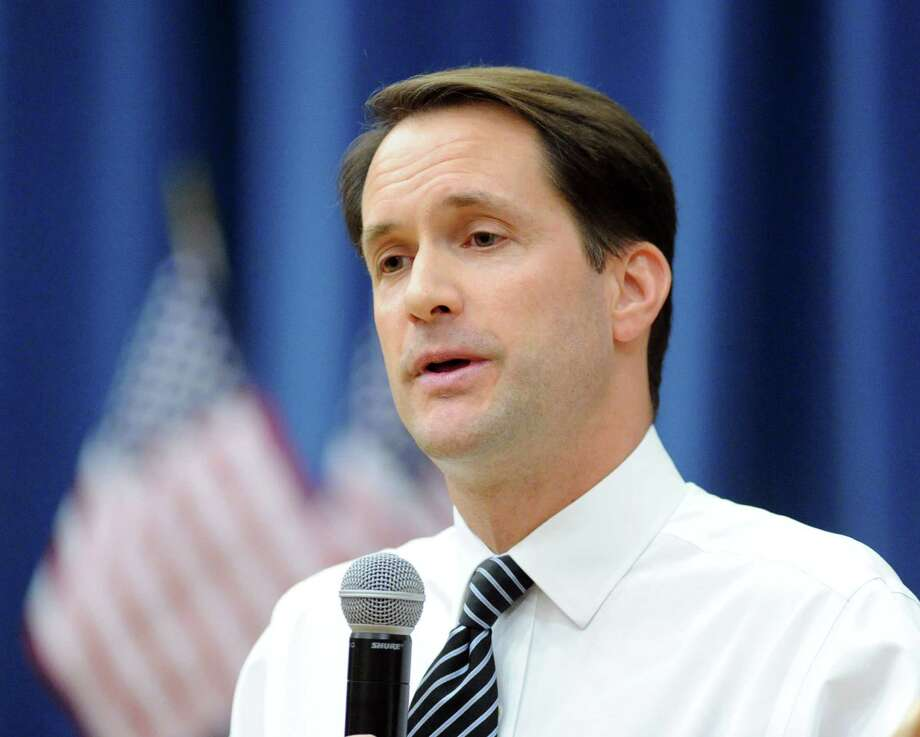 U.S. Rep. Jim Himes, D-Conn., 4th Congressional District, during a candidates forum in which he debated Republican challenger, Dan Debicella, at the Round Hill Community House in Greenwich, Conn., Tuesday night, Oct. 7, 2014. Himes is the incumbent. Photo: Bob Luckey / Greenwich Time