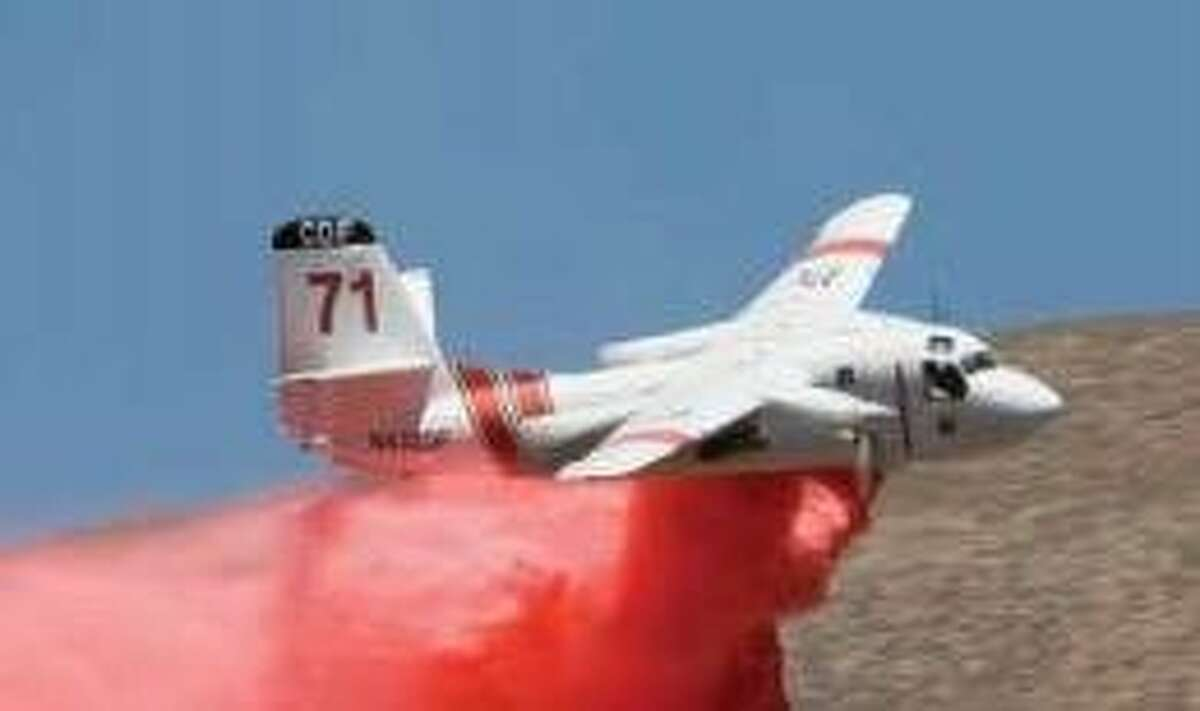 A Grumman S2 Tracker air tanker, like the one pictured here, crashed while fighting the Dog Rock Fire in Yosemite National Park on Tuesday, Oct. 7, 2014.