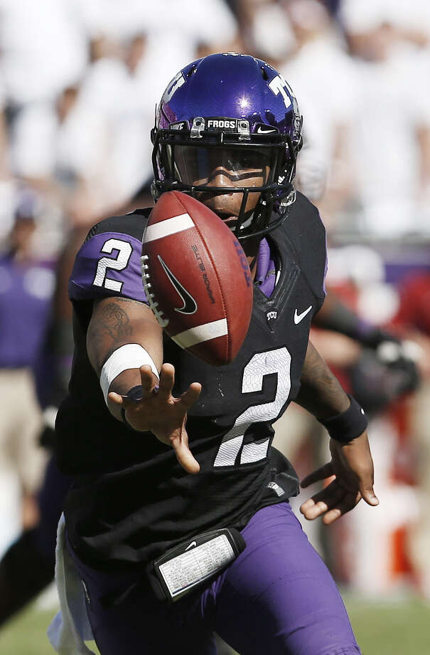 """Trevone Boykin leads TCU into a top-10 matchup with Baylor this week in Waco. """"A lot of Big 12 championships have gone through OU and Austin and Waco over the years,"""" he said. """"That's what we're trying to do."""" Photo: Brandon Wade, Associated Press / FR168019 AP"""