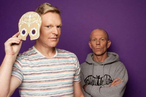 """Erasure - Andy Bell, left, and Vince Clarke - just released its 16th studio album, """"The Violet Flame."""""""