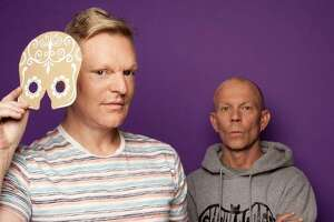 "Erasure - Andy Bell, left, and Vince Clarke - just released its 16th studio album, ""The Violet Flame."""