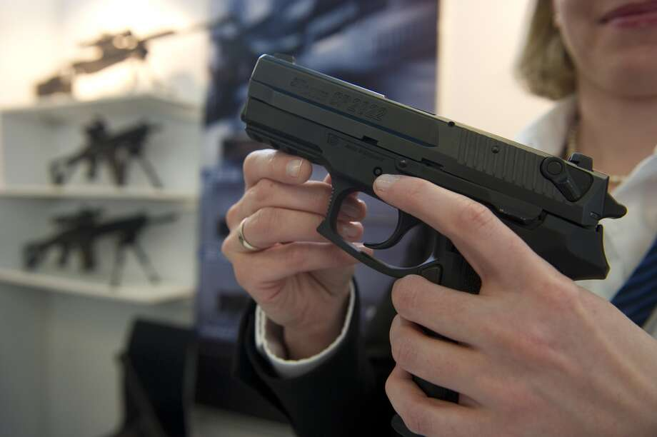 A Sig Sauer pistol similar to one Aberdeen resident and convicted felon Steven Gay is alleged to have sold to an undercover police officer.