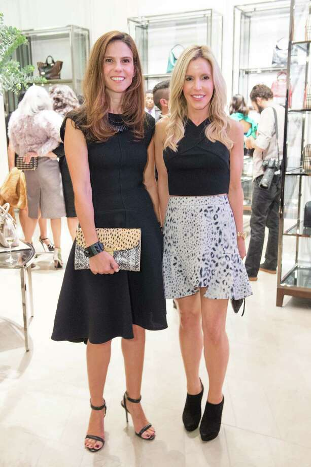 Andrea Zola and Lana Adair at the reopening celebration for Burberry's flagship store in San Francisco on October 7, 2014.  Photo: Drew Altizer Photography/SFWIRE, Drew Altizer Photography / ©Drew Altizer Photography 2014