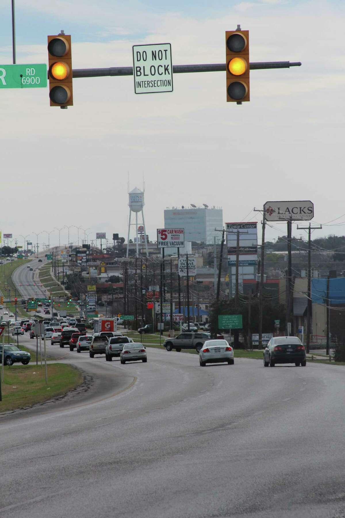 Bandera Road from Northwest Loop 410 to FM 1560 is ranked No. 77th. Seen here is Bandera Road running through Leon Valley.