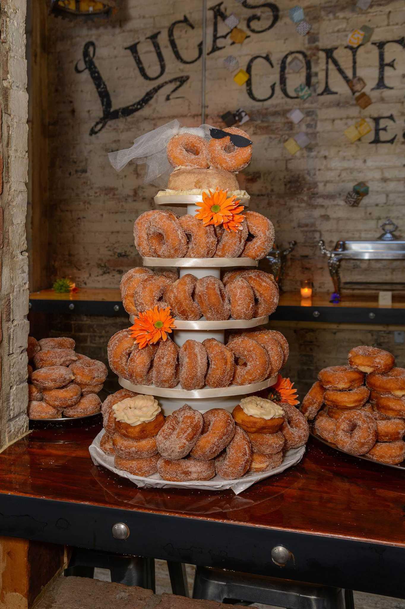 Donut Wedding Cake.Doughnut Wedding Cake A Creation To Cherish Times Union