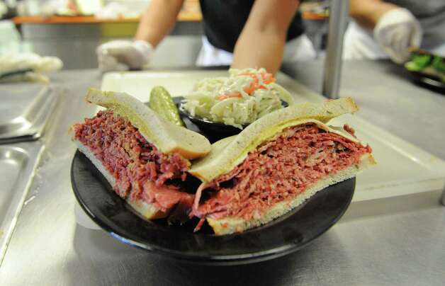 A corned beef sandwhich at Gershon's Deli on Thursday Oct. 2, 2014 in Schenectady, N.Y.  (Michael P. Farrell/Times Union) Photo: Michael P. Farrell / 00028858A