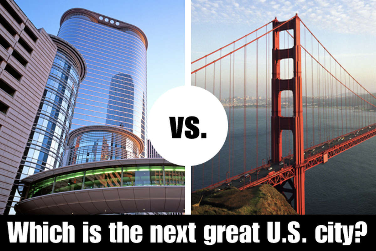Houston vs. San Francisco: Which is the greater city? Houston and San Francisco - two places who names bring to mind instant images of unique cities with unique places. The Daily Beast also says they're the next great U.S. cities of the future. But which is best? Here's the tale of the tape.