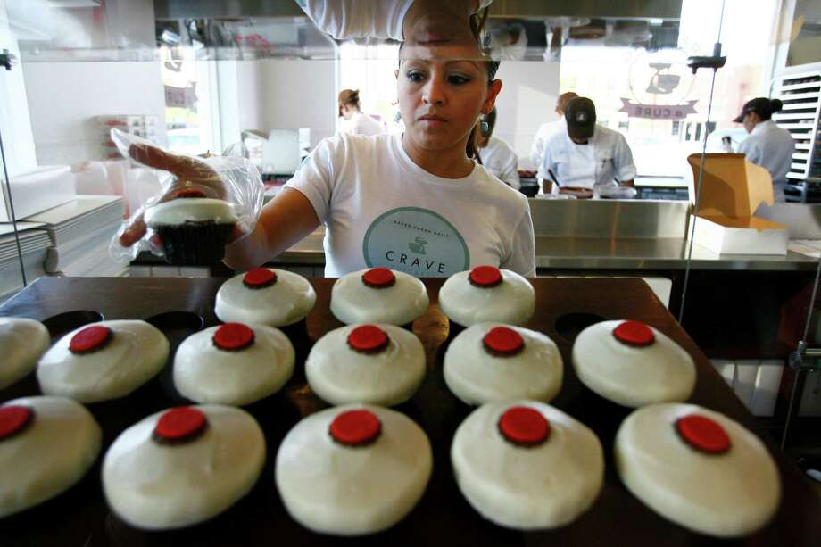 Crave Cupcakes in The WoodlandsThe company's third location opened on March 2, 2105 at Research Forest Lakeside. It's the bakery chain's first foray into the suburban market. Photo: Mayra Beltran, Staff / Houston Chronicle