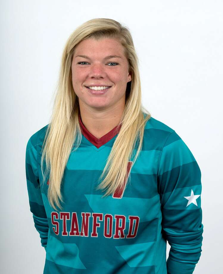 Jane Campbell, the goalkeeper for the third-ranked Stanford women's soccer team, has allowed only two goals this season, ranking her as the nation's top goalie on a Cardinal defense that ranks tops nationally, too. Photo: Norbert Von Der Groeben/Isiphoto
