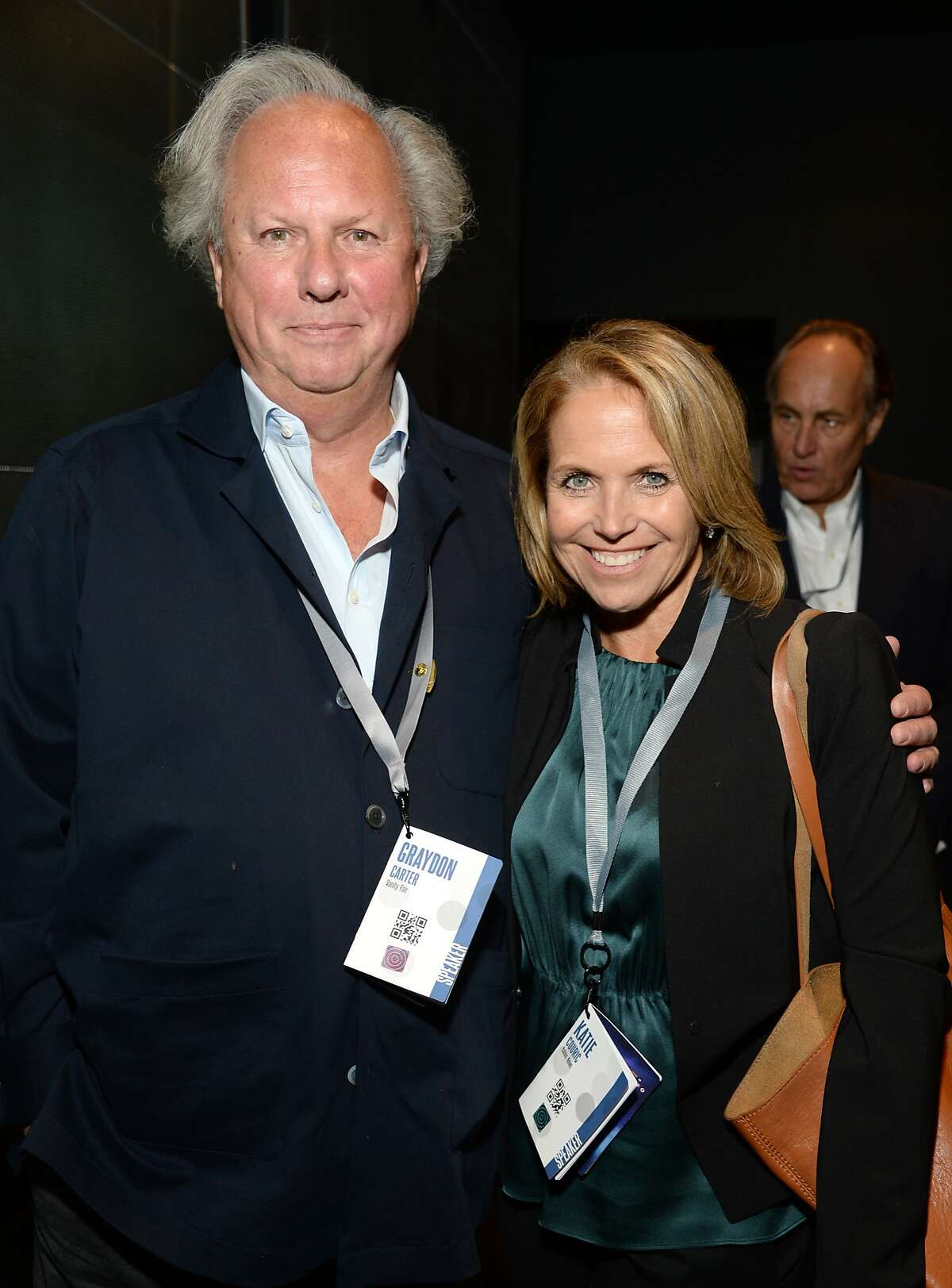 SAN FRANCISCO, CA - OCTOBER 08: Vanity Fair Editor-in-Chief Graydon Carter and TV Journalist Katie Couric attend the Vanity Fair New Establishment Summit at Yerba Buena Center for the Arts on October 8, 2014 in San Francisco, California. (Photo by Michael Kovac/Getty Images for Vanity Fair)