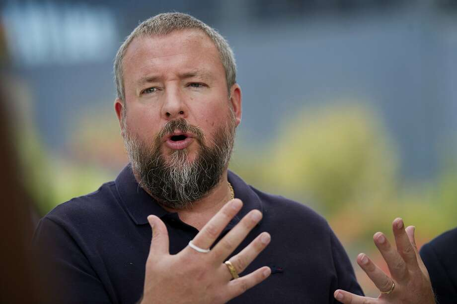 FILE-- Shane Smith, co-founder and chief executive officer of Vice Media Inc., speaks during a Bloomberg Television interview at the Vanity Fair New Establishment Summit in San Francisco on Oct. 8, 2014. Vice has suspended two top executives after a New York Times report on sexual misconduct at the digital media company. Photo: David Paul Morris, Bloomberg