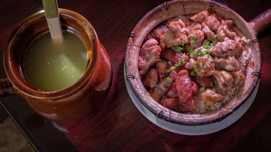Clay pot #6 with Sausage, Spareribs, Preserved Pork and Duck with the house soup at Claypot House in S.F. Photo: John Storey / Special To The Chronicle / ONLINE_YES