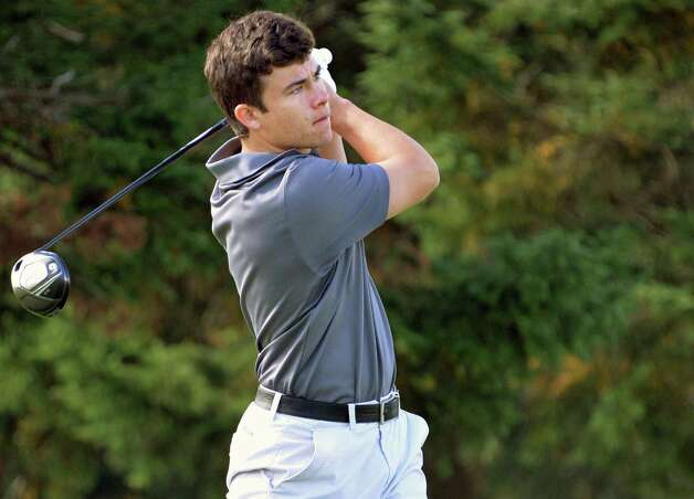 Ballston Spa's Jack Fox on the 10th tee during the Section II golf Class A championship at the Ballston Spa Country Club Wednesday Oct. 8, 2014, in Ballston Spa, NY.  (John Carl D'Annibale / Times Union) Photo: John Carl D'Annibale / 10028920A