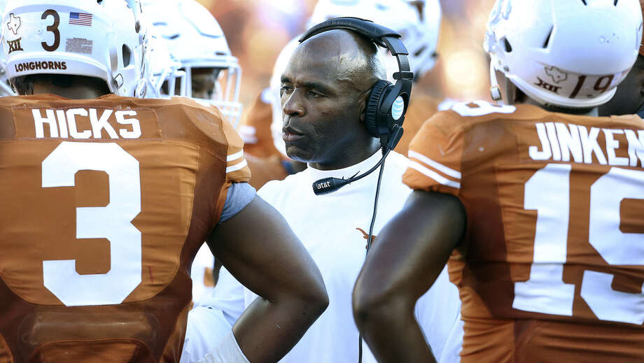 A victory over Oklahoma might not matter much in the Big 12 standings, but it would help to quiet Charlie Strong's detractors. Photo: Tom Reel / San Antonio Express-News