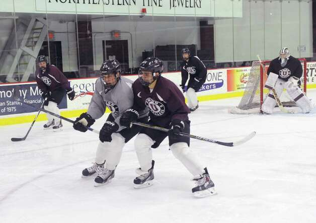 The Union College's men's hockey team practices on Wednesday Oct. 8, 2014 in Schenectady, N.Y.  (Michael P. Farrell/Times Union) Photo: Michael P. Farrell / 10028926A