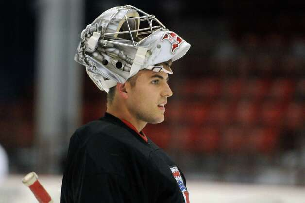 RPI hockey goalie Jason Kasdorf on Wednesday Oct.1 , 2014 in Troy, N.Y.  (Michael P. Farrell/Times Union) Photo: Michael P. Farrell / 10028793A