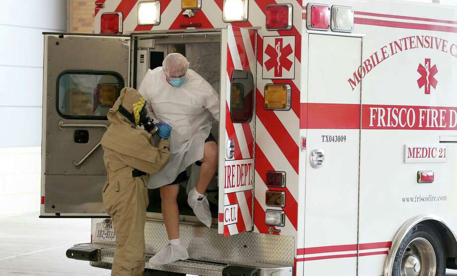 A possible Ebola patient is brought to Texas Health Presbyterian Hospital in Dallas on Wednesday. Photo: Joe Raedle / Getty Images / 2014 Getty Images