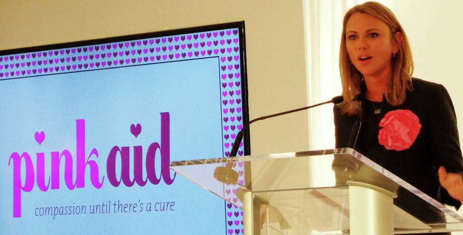 "Lara Logan, CBS News correspondent and breast cancer survivor, was guest speaker at the 4th annual Pink Aid Luncheon and Fashion Show at Mitchell's of Westport. She told the croed of about 500 people that she couldn't fins anything to hold on to after her diagnosis but ""but you learn there is a community of people who have been through this and will be a support."" Photo: Meg Barone / Westport News"