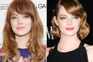 Emma Stone  The now copper-haired actress has had everything from long platinum blonde tresses to brunette hair with bangs, but in August 2014 she debuted her cutest style yet - a chin-grazing red bob.      Kitchen Gadgets That Improve Your Health   9 Lies You Tell Yourself About Cleaning Your House   11 Sneaky Storage Tricks For A Tiny Kitchen   Add These Superfoods To Your Grocery List   9 Charming Items Every Book Lover Needs   17 Ways You're Sleeping Wrong