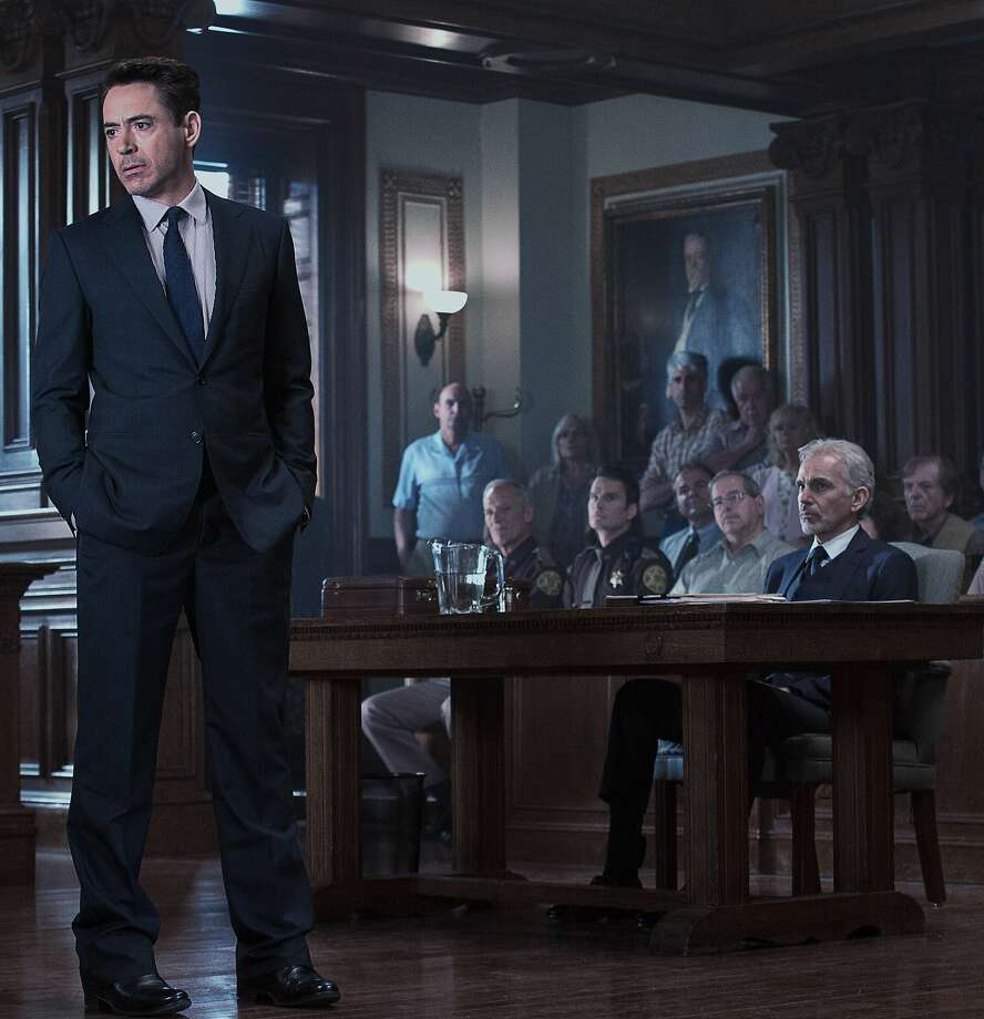 "This photo released by Warner Bros. pictures shows, Robert Downey Jr., left, as Hank Palmer and Billy Bob Thornton, right, as Dwight Dickham in Warner Bros. Pictures' and Village Roadshow Pictures' drama ""The Judge,"" a Warner Bros. Pictures release. The movie releases in the U.S. on Friday, Oct. 10, 2014. (AP Photo/Warner Bros. Pictures, Claire Folger) Photo: Claire Folger, Associated Press"