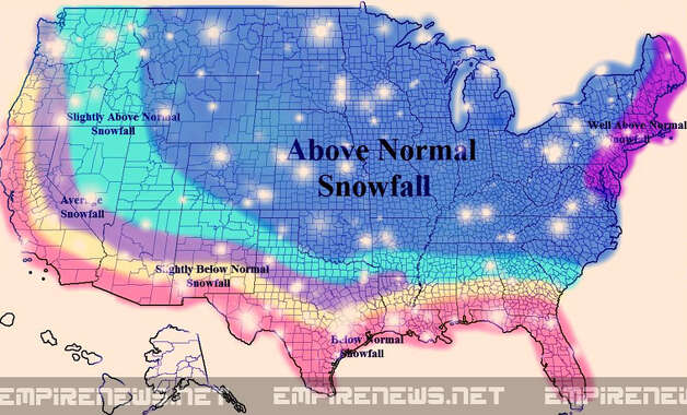 Faux weather map from Empire News (Empirenews.net)