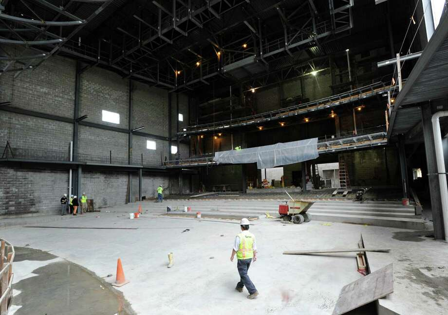 Interior of the MISA performing-arts complex as seen during a tour of the site at Greenwich High School, Conn., Tuesday, Oct. 7, 2014. Photo: Bob Luckey / Greenwich Time