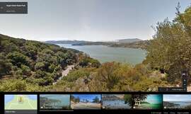 Angel Island State Park, as seen on Google Maps.