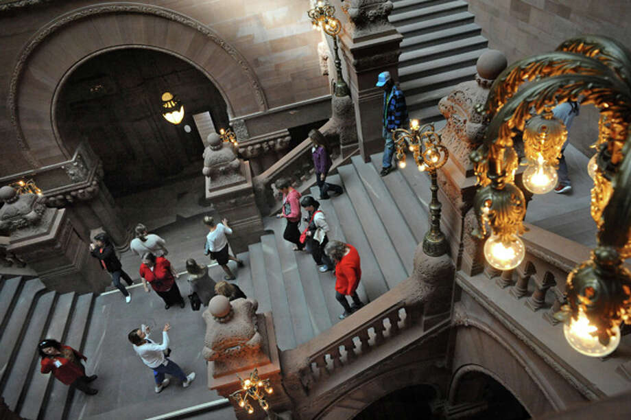 "Capitol Hauntings Tour. ""Come to the New York State Capitol for a special tour that explores legends and stories connected with this historic building."" Registration required. When: Friday, Oct. 30, 12:30 p.m. and 5:30 p.m. Where: Capitol Building, Albany. To register and find more info, visit the website or call 518-474-2418. Photo: Michael P. Farrell, Albany Times Union / 10028914A"