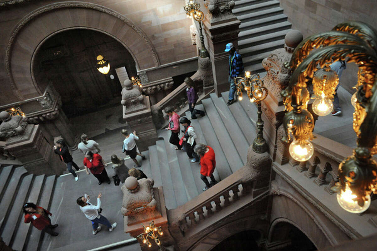 """Capitol Hauntings Tour. """"Come to the New York State Capitol for a special tour that explores legends and stories connected with this historic building."""" Registration required. When: Friday, Oct. 30, 12:30 p.m. and 5:30 p.m.Where: Capitol Building, Albany. To register and find more info, visit the websiteor call518-474-2418."""
