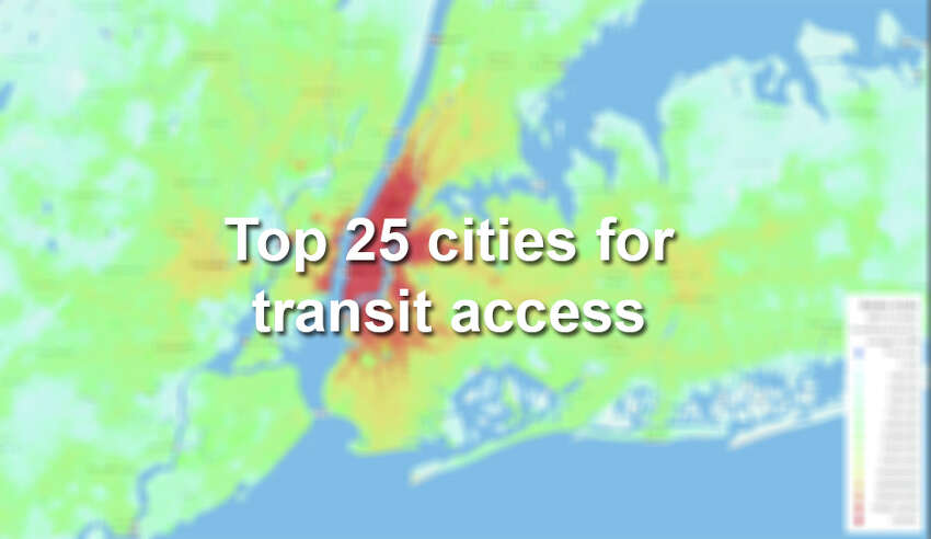 The Access Across America: Transit 2014 study by researchers at the University of Minnesota generated regional heat maps to gauge accessibility to jobs by transit.