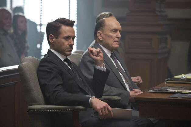"""The Judge""IMDb: 7.6/10Review by Mick LaSalle: Downey, Duvall spar to good effect in 'Judge'Four starsTake ""The Judge"" on its own terms, as a touching exploration of a father-son relationship, and you may be disappointed. Honest in some ways, it also has just enough schmaltz to make viewers pull back precisely when they're supposed to surrender fully. Sometimes, sentimental is just another word for predictable. ""The Judge,"" despite many virtues, follows a pattern.