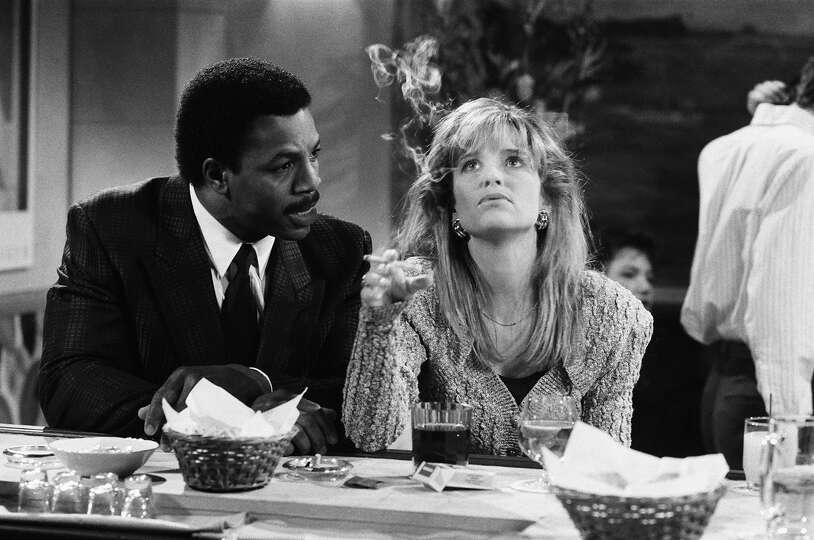 Jan hooks seen here in a saturday night live skit in 1988 with carl
