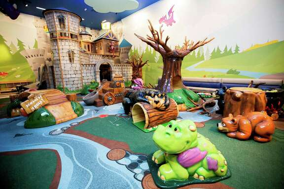 Frolic's Castle, the new 3,010 square-foot play area at Memorial City Mall Thursday, Oct. 9, 2014, in Houston. The new play area will open Saturday, Oct. 18. ( Johnny Hanson / Houston Chronicle )