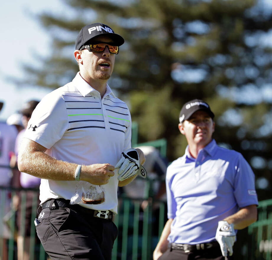 Hunter Mahan (left) and Jimmy Walker were in the same group in the first round at Silverado. Photo: Eric Risberg / Associated Press / AP