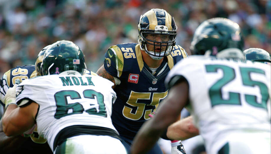 St. Louis linebacker James Laurinaitis says the Rams are working on their dearth of sacks. Photo: Matt Rourke / Associated Press / AP