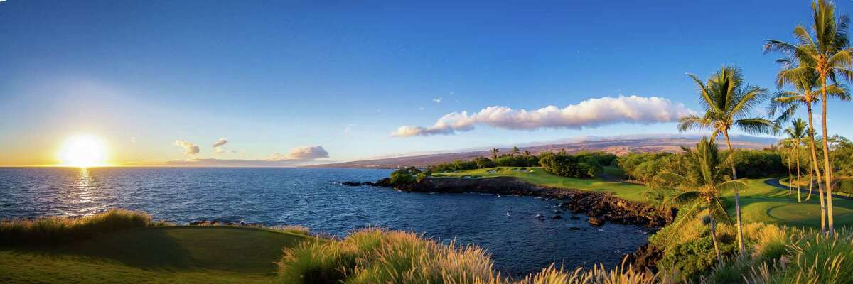A view from hole 3 of the Mauna Kea Beach Hotel golf course.