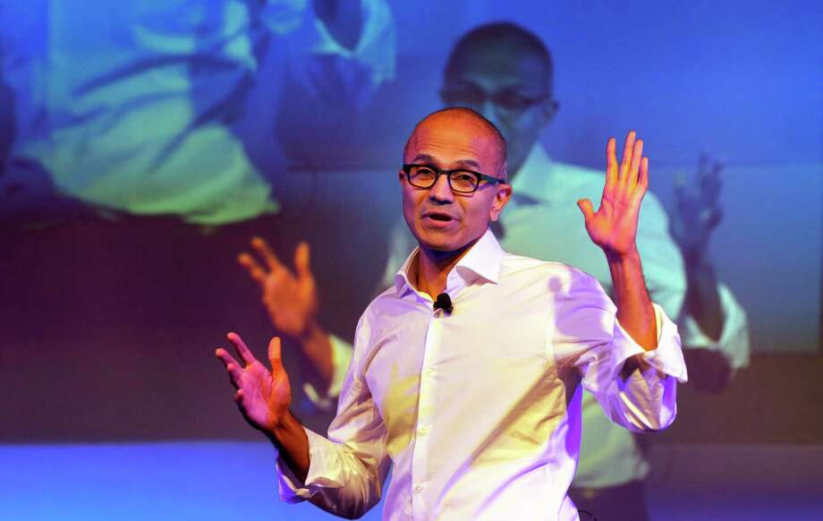 Microsoft said in a regulatory filing that it had to change its pay structure for Satya Nadella because its two former CEOs were not given stock awards. Photo: Manish Swarup, STF / AP