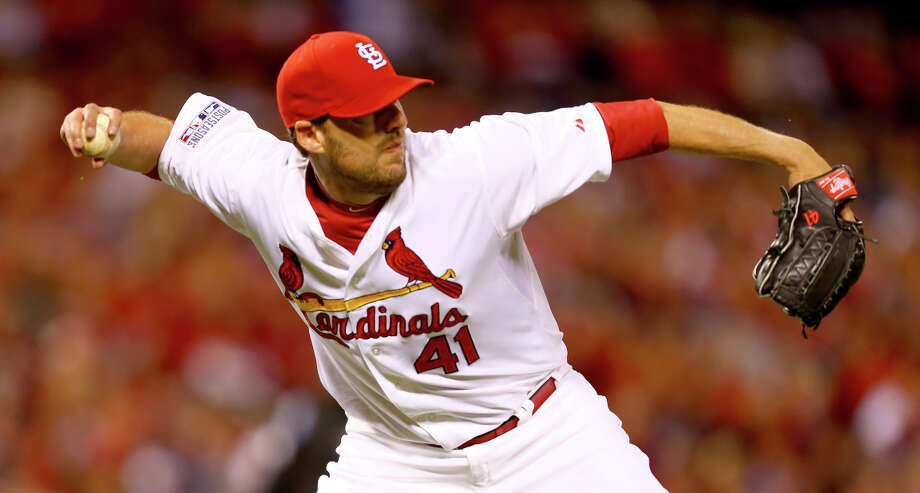 John Lackey has made such an impact for the Cards at nearly 36 years old that it must rankle Giants fans and stir memories of the 2002 World Series, when Lackey pitched the clincher for the Angels. Photo: Dilip Vishwanat / Getty Images / 2014 Getty Images