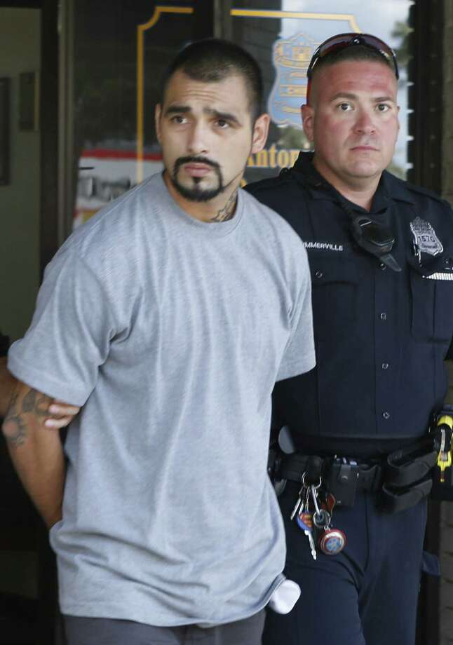 Police Take Roger Garza From The West Police Substation To A Magistrate  Court After He Was