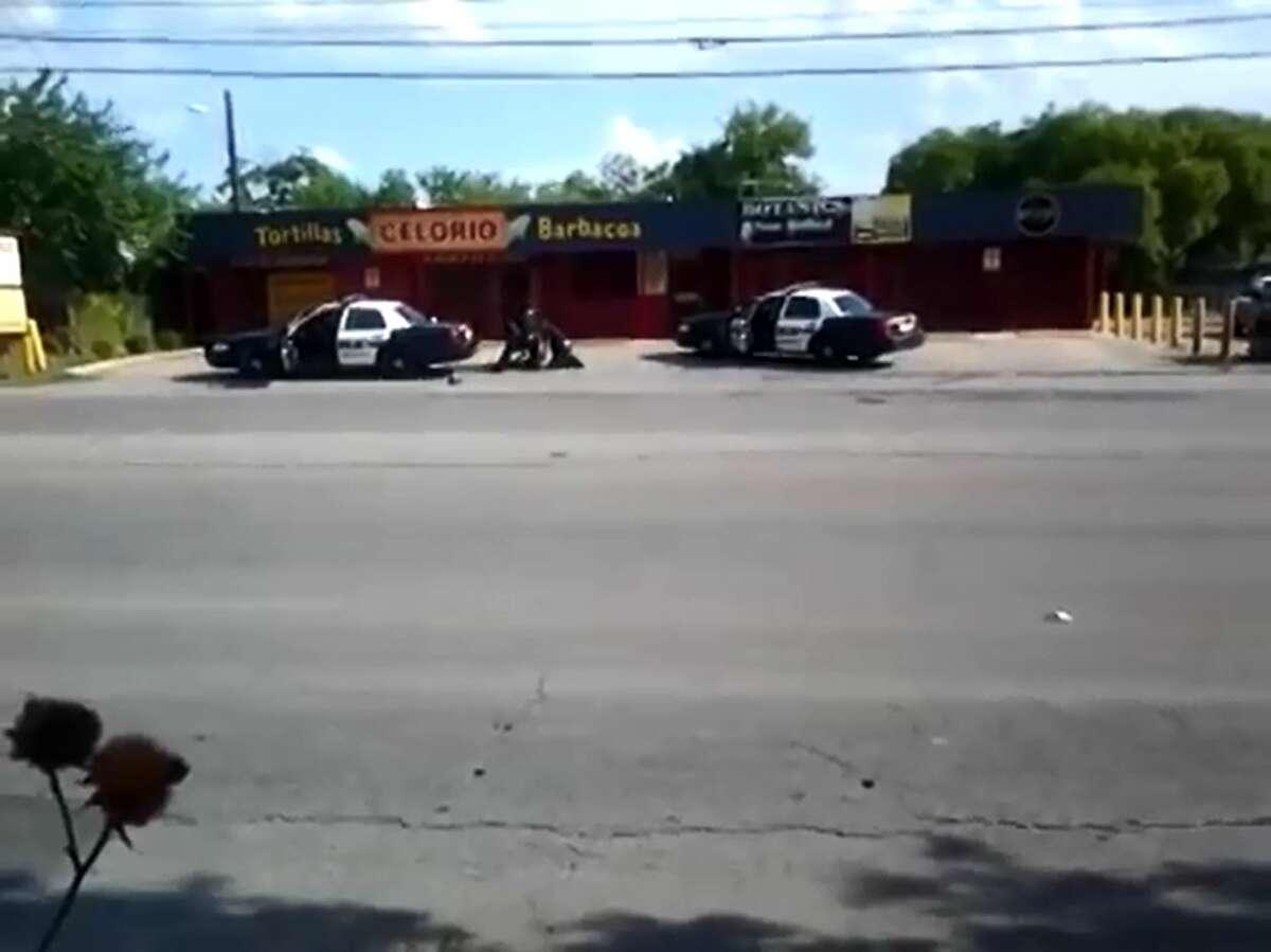 A San Antonio woman is seeking damages from three San Antonio police officers and San Antonio Police Chief William McManus for an alleged beating incident in 2012 that left her with several injuries and caused her to miscarry. A YouTube video posted in July 2012 shows the incident.