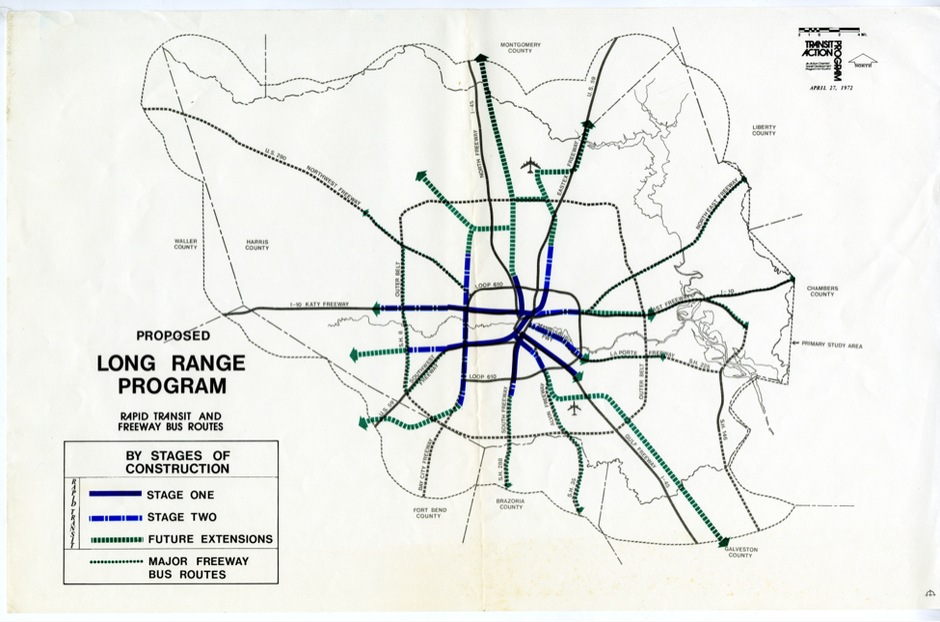 What if Houston had built the rail system it considered in 1973