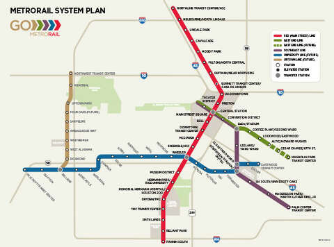 Proposed Houston rail lines shown on 1973 map - Houston Chronicle