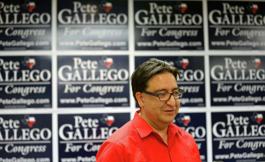 The Editorial Board recommends Pete Gallego for reelection to the 23rd Congressional District. Here, he is seen Tuesday Aug. 19, 2014 in his San Antonio campaign headquarters as he kicks off his bid for a second term. Photo: William Luther / San Antonio Express-News / © 2014 San Antonio Express-News