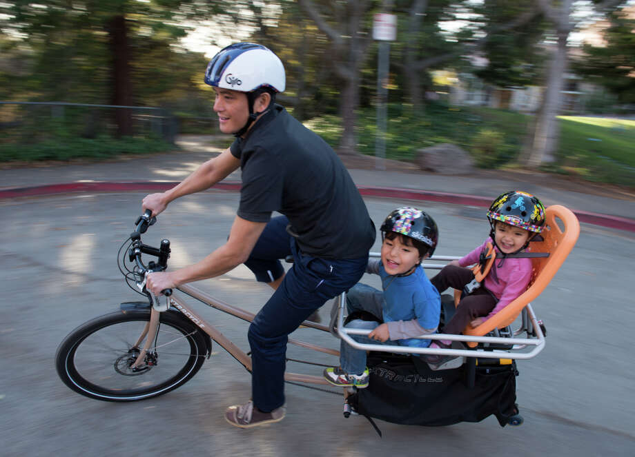 Sean Co and his two children, Kian and Niah will be taking full advantage of this season's riding potential with Ride into Life Ad Campaign. Photo: Karl Nielsen / ONLINE_YES