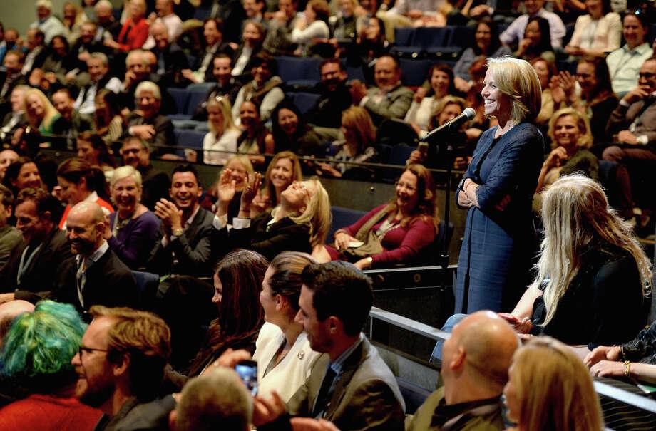 Vanity Fair's tech summit drew, top, filmmaker Scott Aukerman, left, actor Nick Kroll, and Katie Couric, above, to S.F. Photo: Michael Kovac / Getty Images For Vanity Fair / 2014 Getty Images