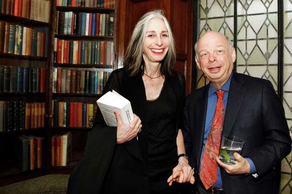 WASHINGTON DC-MAY 7, 2011: Pen/Faulkner Award for Fiction winner   Deborah Eisenberg with her longtime companion, actor and playwright Wallace Shawn, at the 2011 Penn/Faulkner Award for Fiction reception and dinner held at the Folger Shakespeare Library in Washington DC in 2011.  (Photo by Rebecca D'Angelo/For the Washington Post)