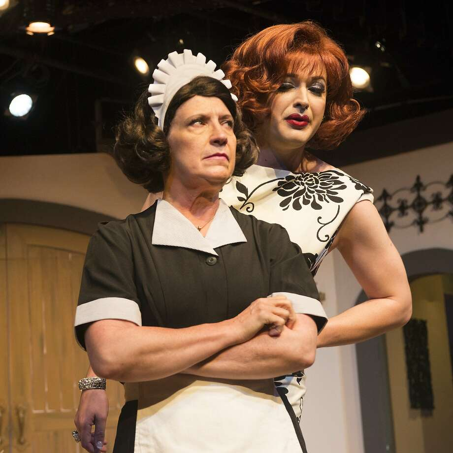 """Angela (J. Conrad Frank, right) is not amused by allegations from her maid Bootsie (Marie O'Donnell)  in Charles Busch's """"Die! Mommie, Die!"""" at New Conservatory Theatre Center Photo: Lois Tema"""